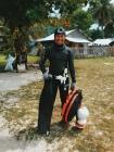 host cousin and badass spearfisher, Nino